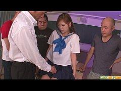 Schoolgirl Yura Kasumi is a hot japanese cum girl