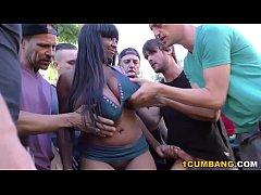Group Sex with Busty Ebony Rachel Raxxx