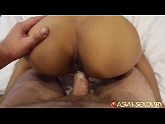 ASIANSEXDIARY Sexy Asian Teen Slides Big Dick I...