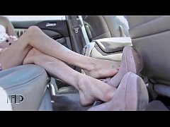 Sexy Feet Shoeplay in Car Part 1- www.prettyfee...
