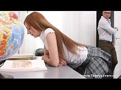Teeny Lovers - Perky teen Veronika Fare takes a...