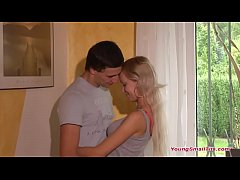 young blonde teen girl just 18 years of age in ...