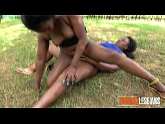 WTF! Crazy African lesbians eat pussy in PUBLIC...