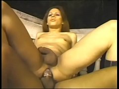 Cute young tranny loves outdoor buttfucking and big facial on a balcony