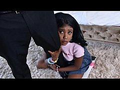 Black babysitter gets caught masturbating - bla...