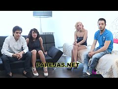Javier and Lara, users from parejas.Net, in the...