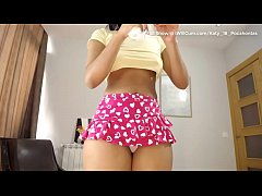 Bubble Butt Colombian Teen Creams Her Panties W...