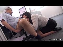 Clip sex Japanese secretary, Marina Aoyama is naughty, uncensored