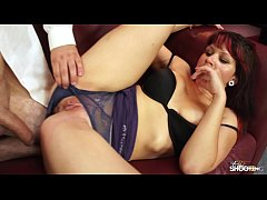 FakeShooting  Busty fat babe jump on cock in a ...