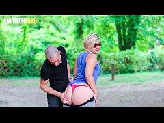 AMATEUR EURO -  BIG ASS French Newbie Celia Get...