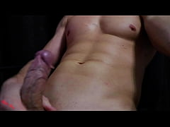 Hot guy jerks off and cums on cam