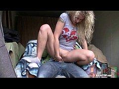 Bitch STOP - Curly blonde teen Veronika fucked ...