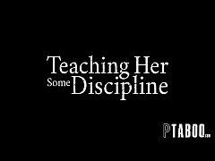 Stern Father Disciplines Step-Daughter Gia Derz...