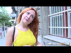 Amazing Eva Berger Strips off her Clothes for Cash