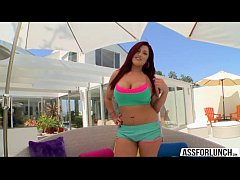 Redhead Dayna Vendetta shakes her perfect ass a...