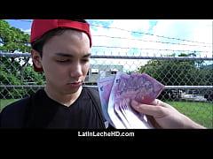 Amateur Virgin Latino Boy In Red Baseball Cap P...