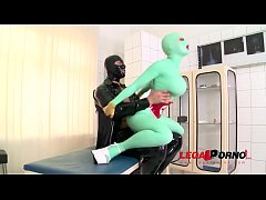 Sex Maniac Latex Lucy gets Hardcore Fucked in t...