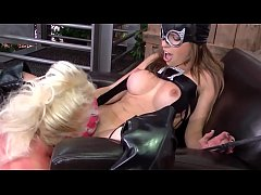Two masked lesbians have fun with their wet