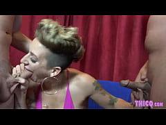 Big Butt Stripper Della Dane Teases Two Cocks
