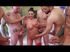 Jules Jordan - Swarmed By 13 Guys Angela White ...