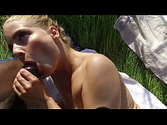Cayenne and Joss outdoor fuck in nudiste place....