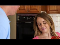 Alexis Adams Slobbers On Friends Dads Dick