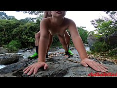 (4K) Fucking by the river in Costa Rica with An...