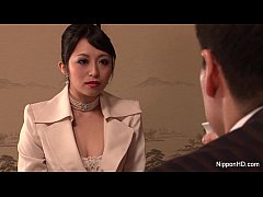Japanese Business babe gets fucked