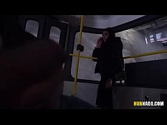 Woman watches me jerking off on a tram! # Stacy...