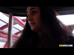 Woman watches me jerking off on a tram! # Stacy Sommers