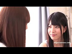 Beautiful young Japanese lesbians scissoring-an...