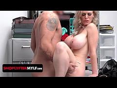 Big tits blonde MILF thief Casca Akashova begs ...