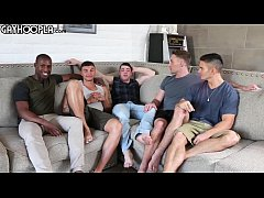 Hottest Young Guys! Gay 5-Some ORGY! All These ...
