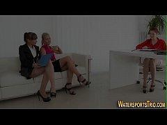 Lesbian sluts urinating