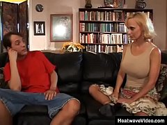 Hot married MILF asks stepson his opinion about...