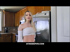 Blonde Teen Stepdaughter Kenna James Family Sex...