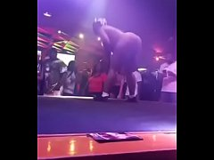 Amateur night at strip club for big fat ass ebo...