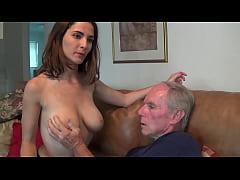 My boyfriend dad stare at my Tits