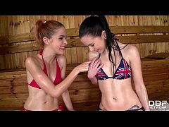 Sauna Hardcore Threesome with Amarna Miller & A...