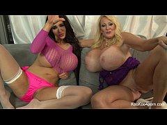 Busty Amy & Kayla show off their sexy bodies