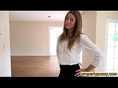 Hot property manager seduces her boss in an emp...