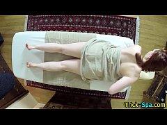 Big assed babe massaged