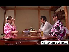 Japanese geisha gets fucked while her girlfrien...