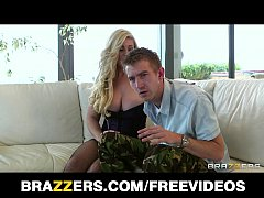 BUSTY blonde MILF is caught and fucked in her n...