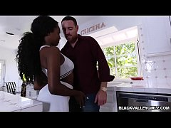 Hot black stepdauhter Daya Knight fucks with st...