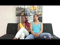 23yo bisexual hottie Jalila teaches some sex le...