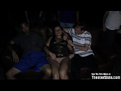 Horny Tattoo Slut Gangbang Porn Theater