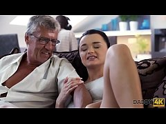 DADDY4K. Horny brunette unleashes all lust on b...