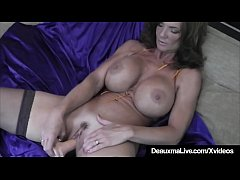 Hot Cougar Deauxma Squirts A Puddle After Dildo...