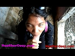 HD Heather Deep explores trail in jungle and ge...